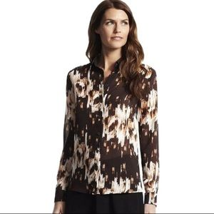DEREK LAM Design Nation Sheer Shirt Top Blouse